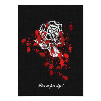 Eternity Rose Vampire Goth Wedding Card