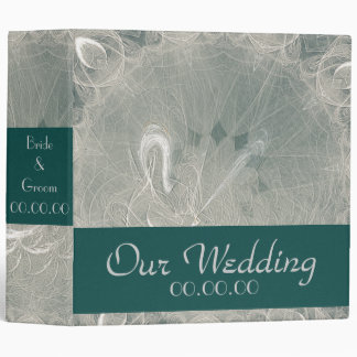 Eternity Swan Wedding 3 Ring Binders