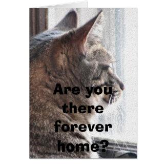 Êtes-vous là forever à la maison ? Carte pour note