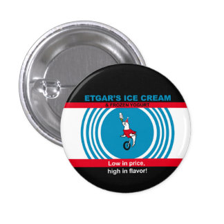 Etgar's Ice Cream 1 Inch Round Button