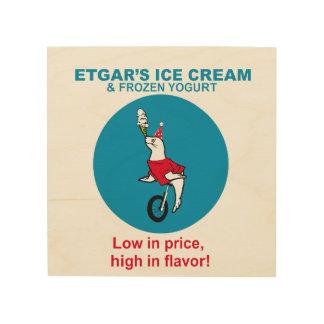 Etgar's Ice Cream Wood Canvas