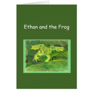 Ethan and the Frog Little Adventure Template Card