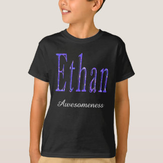 Ethan, Awesomeness Name, Logo, Boys Black T-shirt
