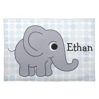 Ethan Elephant Placemat