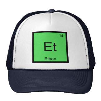 Ethan Name Chemistry Element Periodic Table Trucker Hat