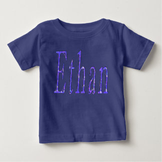 Ethan, Name, Logo, Baby Boys Blue T-shirt