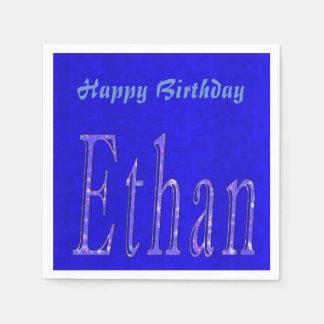 Ethan, Name, Logo, Happy Birthday Logo, Disposable Napkins