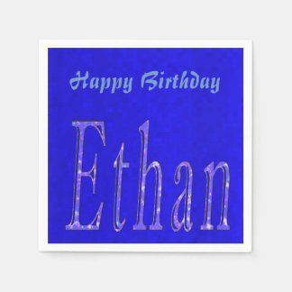 Ethan, Name, Logo, Happy Birthday Logo, Paper Napkin