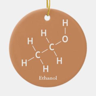 Ethanol Ethyl Alcohol Molecule Chemistry Ceramic Ornament