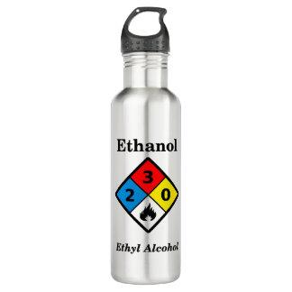 Ethanol MSDS Warning 710 Ml Water Bottle