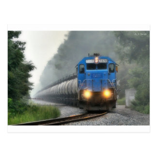 Ethanol Train in the Mist Postcard