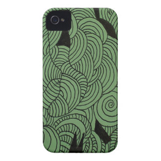 Ether Formation Green iPhone 4 Cases