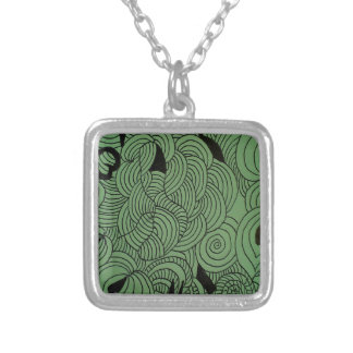 Ether Formation Green Silver Plated Necklace