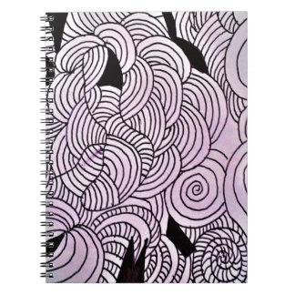 Ether Formation Green Spiral Notebook