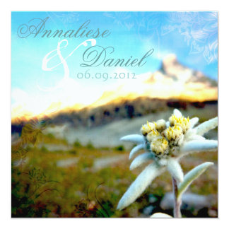 Ethereal Edelweiss Wedding Invitation