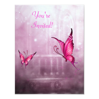 Ethereal Fantasy Pink Butterfly Event Card