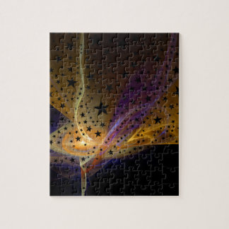 Ethereal Flame with Stars Jigsaw Puzzle