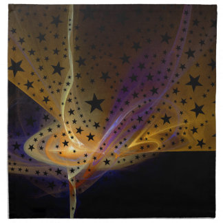 Ethereal Flame with Stars Napkin