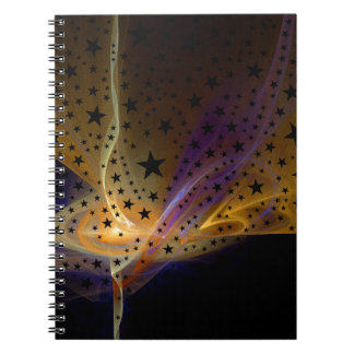 Ethereal Flame with Stars Notebook