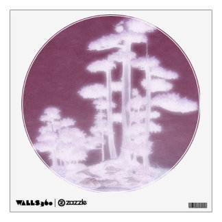 Ethereal Group of Bonsai Trees Wall Sticker