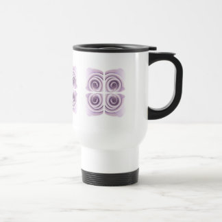 Ethereal Lilac Rose Abstract Swirls Stainless Steel Travel Mug