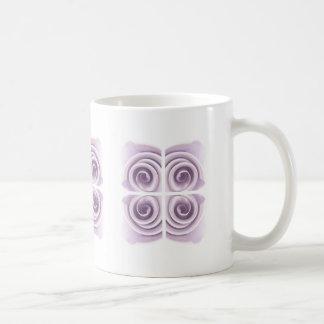 Ethereal Lilac Rose Abstract Swirls Basic White Mug