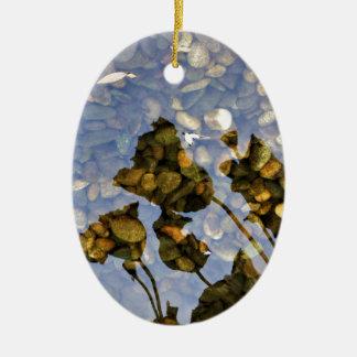 Ethereal Lotus Ceramic Ornament