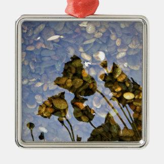 Ethereal Lotus Metal Ornament