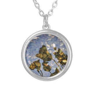 Ethereal Lotus Silver Plated Necklace