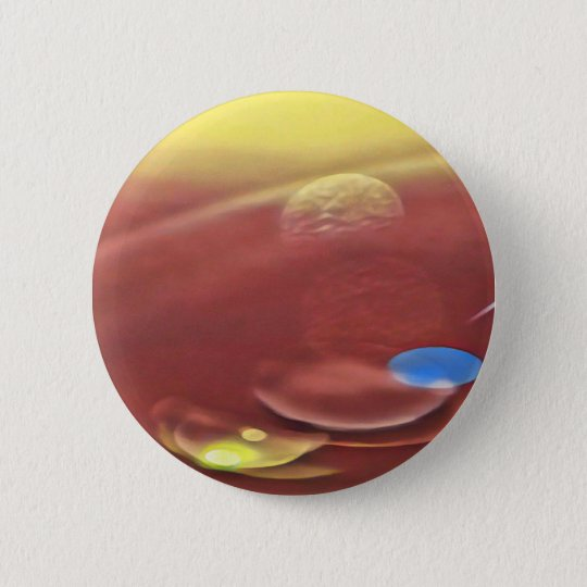 Ethereal Sci-fi Alien Planets 2 Inch Round Button
