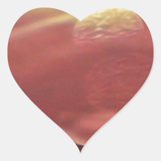 Ethereal Sci-fi Alien Planets Heart Sticker