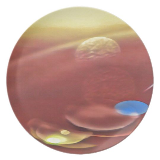Ethereal Sci-fi Alien Planets Plate
