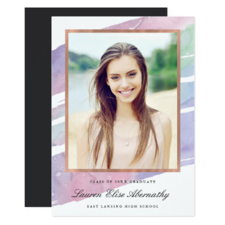 Ethereal Watercolor Graduation Announcement