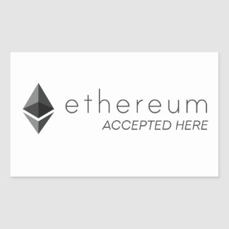 Ethereum Accepted Here Rectangle Stickers