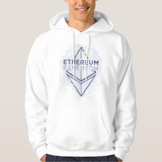 Ethereum Binary Grunge original blue Hoodie