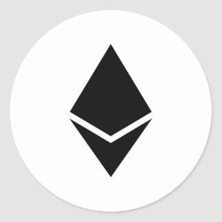 Ethereum Black Logo Sticker