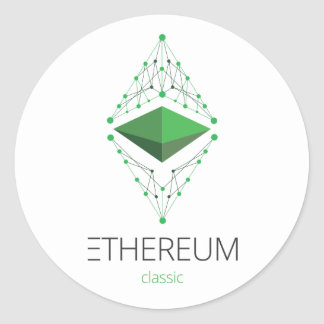 Ethereum Classic Sticker Round Light