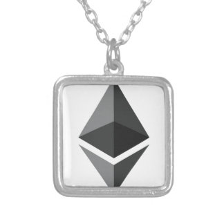 Ethereum - Cryptocurrency Super PAC Silver Plated Necklace