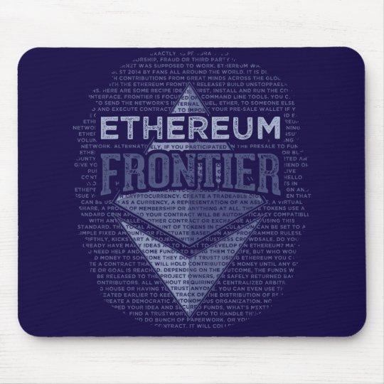 Ethereum Frontier Grunge dark blue mouse pad