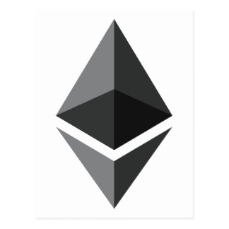 ETHEREUM in Black Postcard