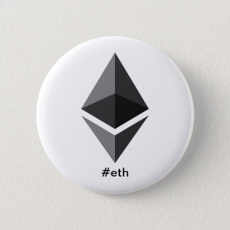Ethereum Logo Hashtag Button
