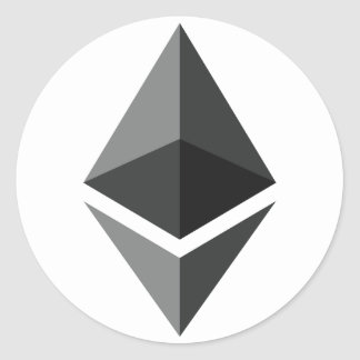Ethereum Logo Only Classic Round Sticker