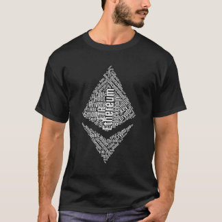 Ethereum logo wordcloud- crypto currency T-Shirt