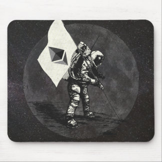 Ethereum Moon Flag Mouse Pad