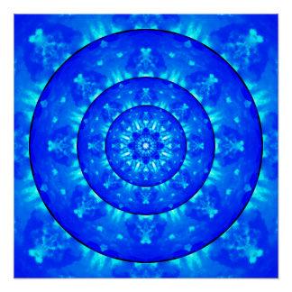 Etheric Tunnel Mandala Poster