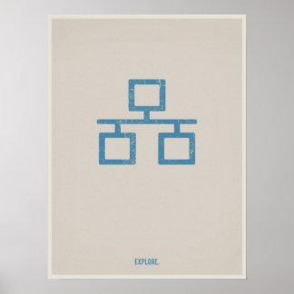 Ethernet minimalistic poster