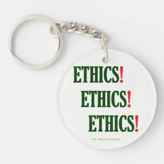 """""""Ethics! Ethics! Ethics!"""" Keychain"""