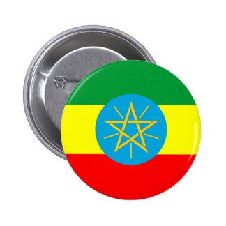 ethiopia country flag long symbol 2 inch round button