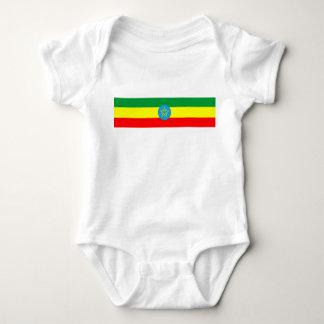 ethiopia country flag long symbol baby bodysuit