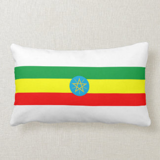 ethiopia country flag long symbol lumbar pillow